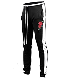 8d05fe2bb0c Screenshotbrand Mens Hip Hop Premium Slim Fit Track Pants - Athletic Jogger  Bottom with Side Taping