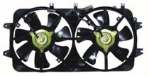 (Go-Parts ª OE Replacement for 2000-2002 Mazda 626 Radiator Cooling Fan Assembly (2.5L + Dual Fan Assembly) KLR9-15-025B MA3115119)