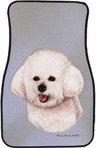 Bichon Frise Car Floor Mats - Carepeted All Weather Universal Fit for Cars & Trucks
