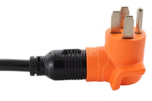 AC WORKS [AD1450L1420] Range/ RV/ Generator Outlet Adapter 4-Prong 14-50P Plug to 4-Prong 20Amp Locking L14-20R Adapter by AC WORKS (Image #5)