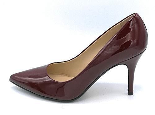 37 Rosso Decollete Scuro Scarpa Vernice Caramello Julie Colore J8082 Cognac Dee Taglia qpqFB
