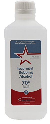 Healthstar 70% Isopropyl Rubbing Alcohol 16 Oz – Cleans, Disinfects, Relieves Muscle Pain - Made In USA ()