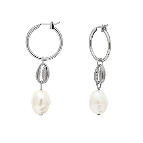 Irregular Shaped Beads Shell Drop Dangle Earrings Geometric Shape Creative Earrings Women's Jewelry ()