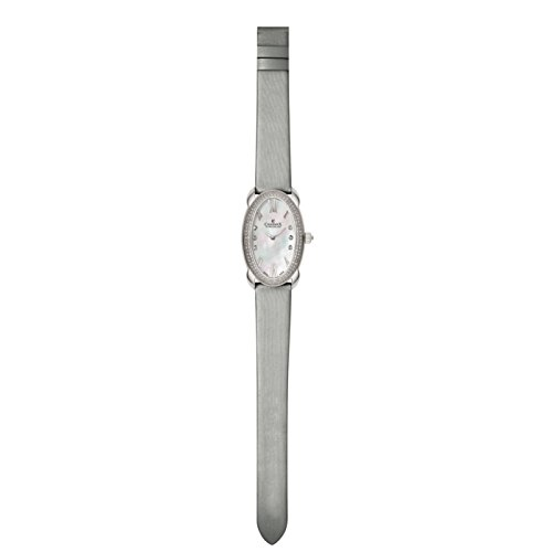 Charmex Tuscany 6260 28x42.5mm Stainless Steel Case White Calfskin Synthetic Sapphire Women's Watch