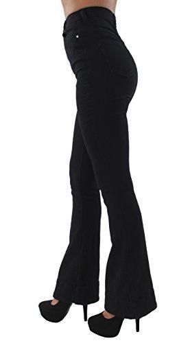 Fashion2Love F2L7-7O00 - Womens Juniors Bell Bottom High Waist Bootcut Flared Jeans Bootleg