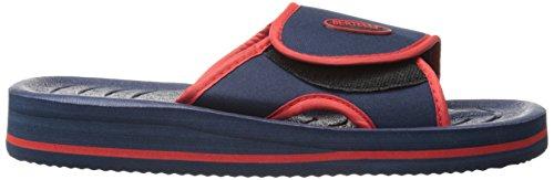 Sandalo Bertelli Da Uomo Scivolo Sandalo Da Spiaggia Con Un Tocco Deciso E Cinturino Regolabile Blu / Rosso