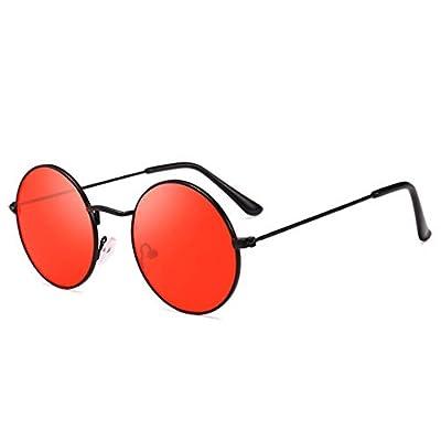 Summer Retro Round Sunglasses Men Women NEW Vintage Circle Black Red Pink Lens Hippie Sun Glasses Shades 652