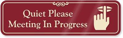 amazon com quiet please meeting in progress with keep quiet