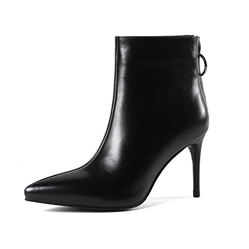 Black Bottines pour Warm Pointus Talons Courtes Stiletto à Femme rCnxC0TZqP