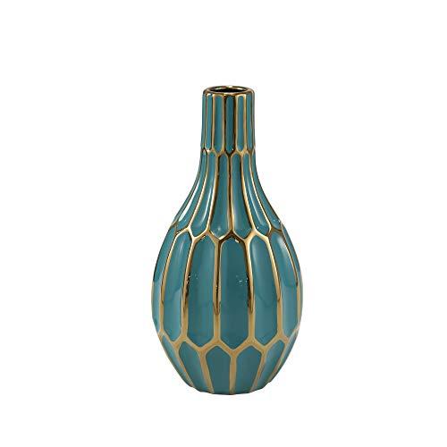 Sagebrook Home Ceramic VASE, Turquoise, 6.25x6.25x12, Teal