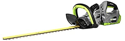 Earthwise LHT15824 Dual Action 24-Inch Blade 58-Volt Cordless Hedge Trimmer, 2Ah Battery & Charger Included