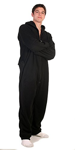 Forever Lazy Adult Onesie - Black to Sleep - L