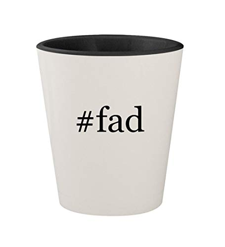 Alicia Lamp - #fad - Ceramic Hashtag White Outer & Black Inner 1.5oz Shot Glass
