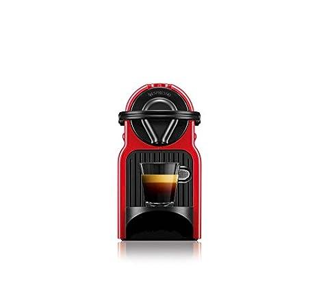 Máquina de cápsulas de café Krups Nespresso Inissia, color rojo rubí Inissia Ruby Red: Amazon.es: Hogar