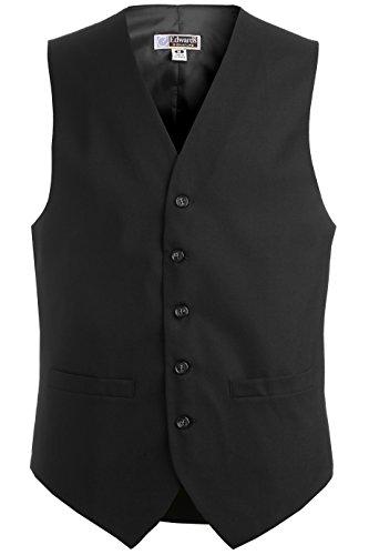 Ed Garments Men'S 4680 Classic Five Button Vest Server Vests (Black M-R) by Edwards Garment