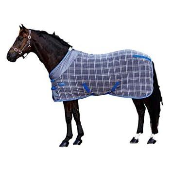 Weatherbeeta Fleece Cooler Standard Neck Turnout Blanket Grey Plaid, 81