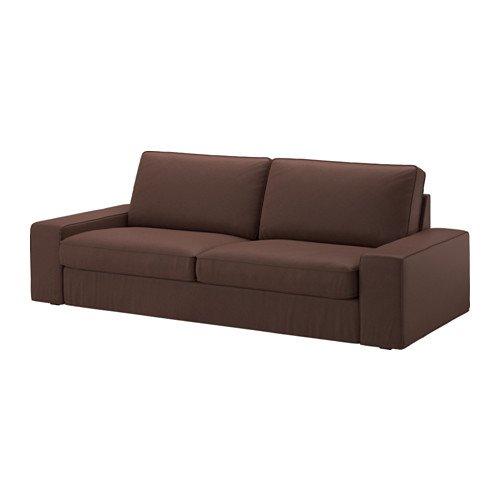 IKEA Genuine Slipcover Kivik Sofa, Loveseat Chaise, Borred Dark Brown (Sofa)