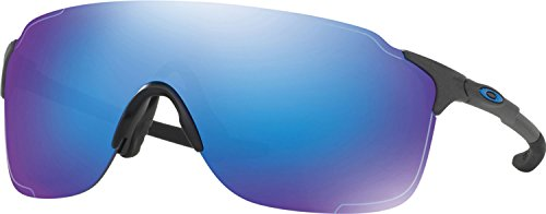 Oakley Men's Evzero Stride Non-Polarized Iridium Rectangular Sunglasses, Steel w/Sapphire Iridium, 138 - Zero Oakley