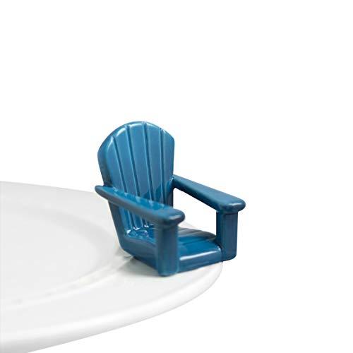 Nora Fleming Hand-Painted Mini Chillin Chair Blue Blue Adirondack Chair A67