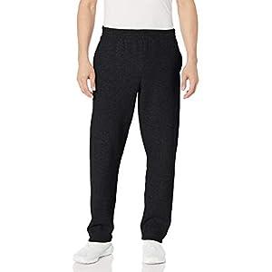 Fruit of the Loom Men's Fleece Sweatpants, Black, Medium