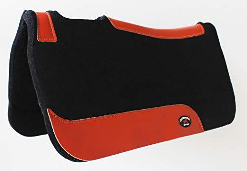 CHALLENGER Horse Saddle PAD Western Contoured Wool Felt Moisture Wicking Black 39RT02BK
