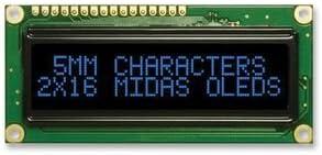 BLUE Best Price Square OLED 16X2 4 FONT SETS MCOB21605GX-EBP By MIDAS W//T