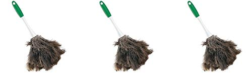 Libman Commercial 239 Handheld Feather Duster, Polypropylene and Sanoprene Handle, 13'' Total Length, Green and White Handle (Pack of 6) (3-(Pack)) by Libman Commercial (Image #2)