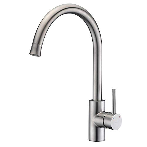 Kitchen Sink Faucet Stainless Steel, Wet Mini Bar Sink Faucet, Island Kitchen Prep Faucet,Single hole Single Handle