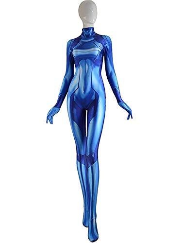 CosplayLife Zero Suit Samus Kids (S) Blue -