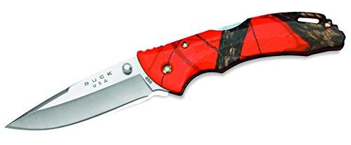 (Buck Knives 0285CMS9 Bantam Folding Pocket Knife with Pocket Clip, Mossy Oak Blaze Orange Camo)