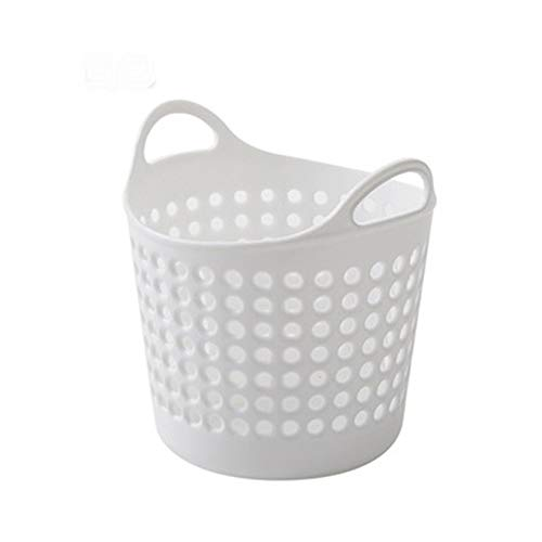 (LtrottedJ Mini Desktop Storage Trash Basket Creative Fashion Trash Can (White))