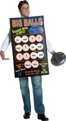 WMU 773328 Big Balls Scratch Off Ticket Costume - Big Balls Scratch Off Costumes