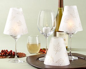 Fall Leaves Vellum Shade Set of 24 Style 28132NA Aspen Brands