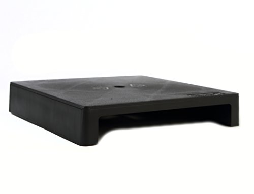 Single Graphite - Vu Ryte Stackable 2 Inch Computer Monitor Stand, VuRyser 2, 11.37 X 11.37 X 2 inches, Graphite, Single Unit (VUR 4855)