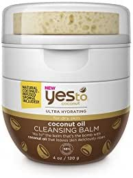 Yes To Coconut Ultra Hydrating Coconut Oil Cleansing Balm for Dry Skin, 4 Ounce