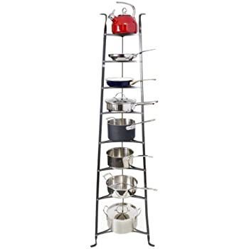 Amazon.com: 6 Straight colgar Pot rack ganchos, Hammered ...