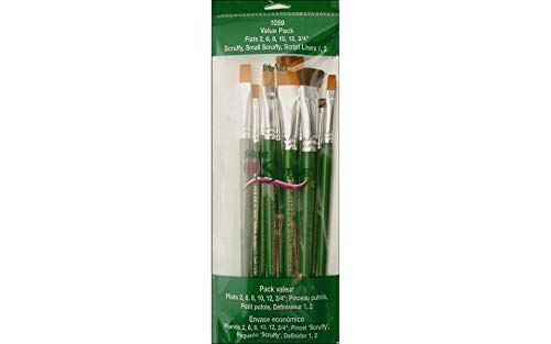 (One Stroke Brush Set, 1059 (10-Pack) )