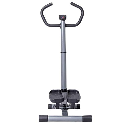 GYMAX Step Machine, 2 in 1 Twister Stepper Stair Climber with LCD Display and Handle Bar, for Fitness Cardio Exercise Workout by GYMAX (Image #6)