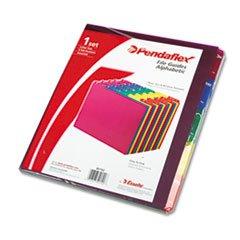 * Top Tab File Guides, Alpha/A-Z 1/5 Tab, Polypropylene, Letter, 25/Set