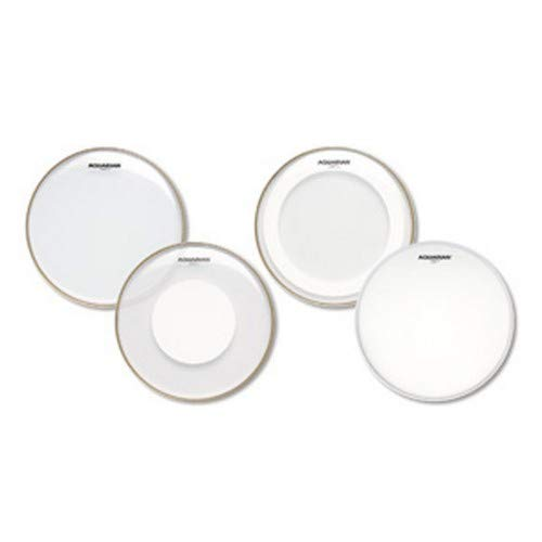 - Aquarian Super-2 Drumheads with Studio-X Ring Rock Pack