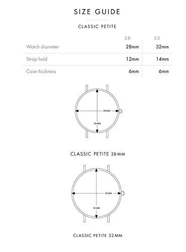 Daniel Wellington Classic Petite Melrose in Black Watch
