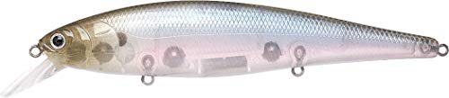 Lucky Craft Fishing Lure Pointer 128 Jerk Bait, Ghost Minnow, 5-Inch (128mm) ()