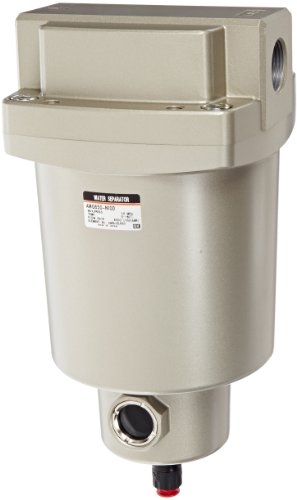 SMC AMG650-N10D Water Separator, N.O. Auto Drain, 6,000 L/min, 1'' NPT by SMC Corporation