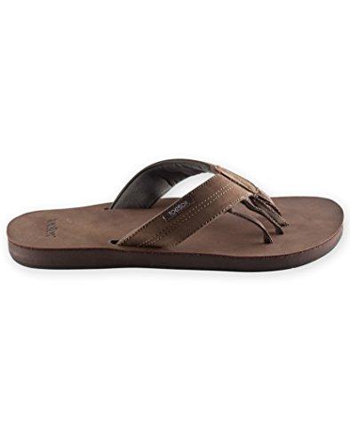 Toesox Walnut Leather Genuine Flat Encino Men's UwRw0qvY