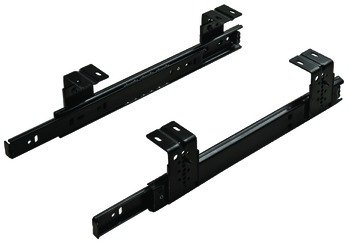 Ball Bearing Top Mounted Slide, 3/4 Extension, 75 lbs, Accuride 2109, Bulk Pack, Black, 24