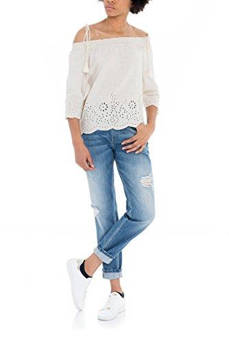 SALSA Mom Jeans con rotos Azul