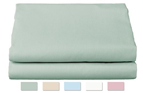 (Thomaston Mills: Percale Sheet Set, Wrinkle Resistant, American Made, Durable, Crisp Fabric. (Full, Seafoam Green))