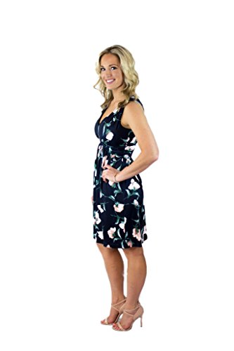 Your White Summer Blue Charm Women's Navy Floral Sleeveless Sundress Prince and RdwWq4