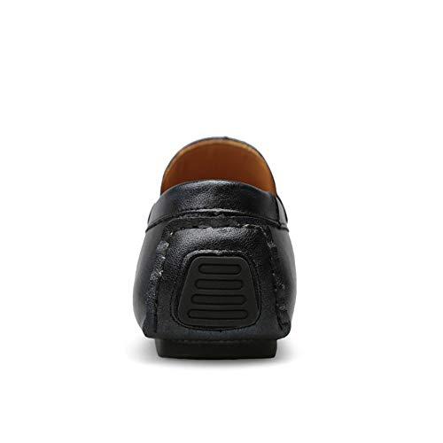 scarpe Mocassini Ofgcfbvxd Blu 40 EU Mocassini da pelle Leggero in Color Blu piatte Slip Wider On Scarpe da Fitting casual per Scarpe guida Dimensione uomo morbidi barca vera rttA7q