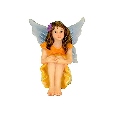 Twig & Flower Miniature Fairy Garden Fay (the Super Cute, Hand Painted Garden Fairy) by
